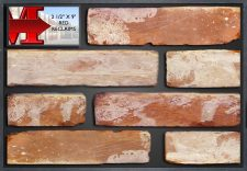 "2 1/2 X 9"" Red Reclaims - Showroom Panel"""
