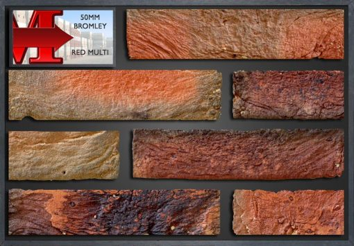 50Mm Bromley Red Multi - Showroom Panel
