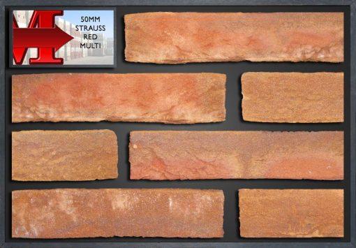 50Mm Strauss Red Multi - Showroom Panel