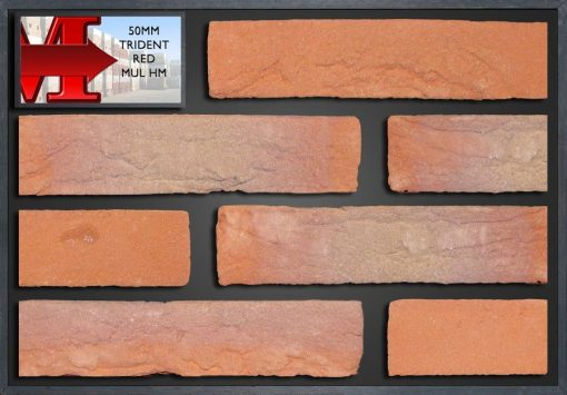 50Mm Trident Red Multi Handmade - Showroom Panel