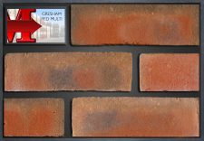 Gresham Red Multi - showroom panel