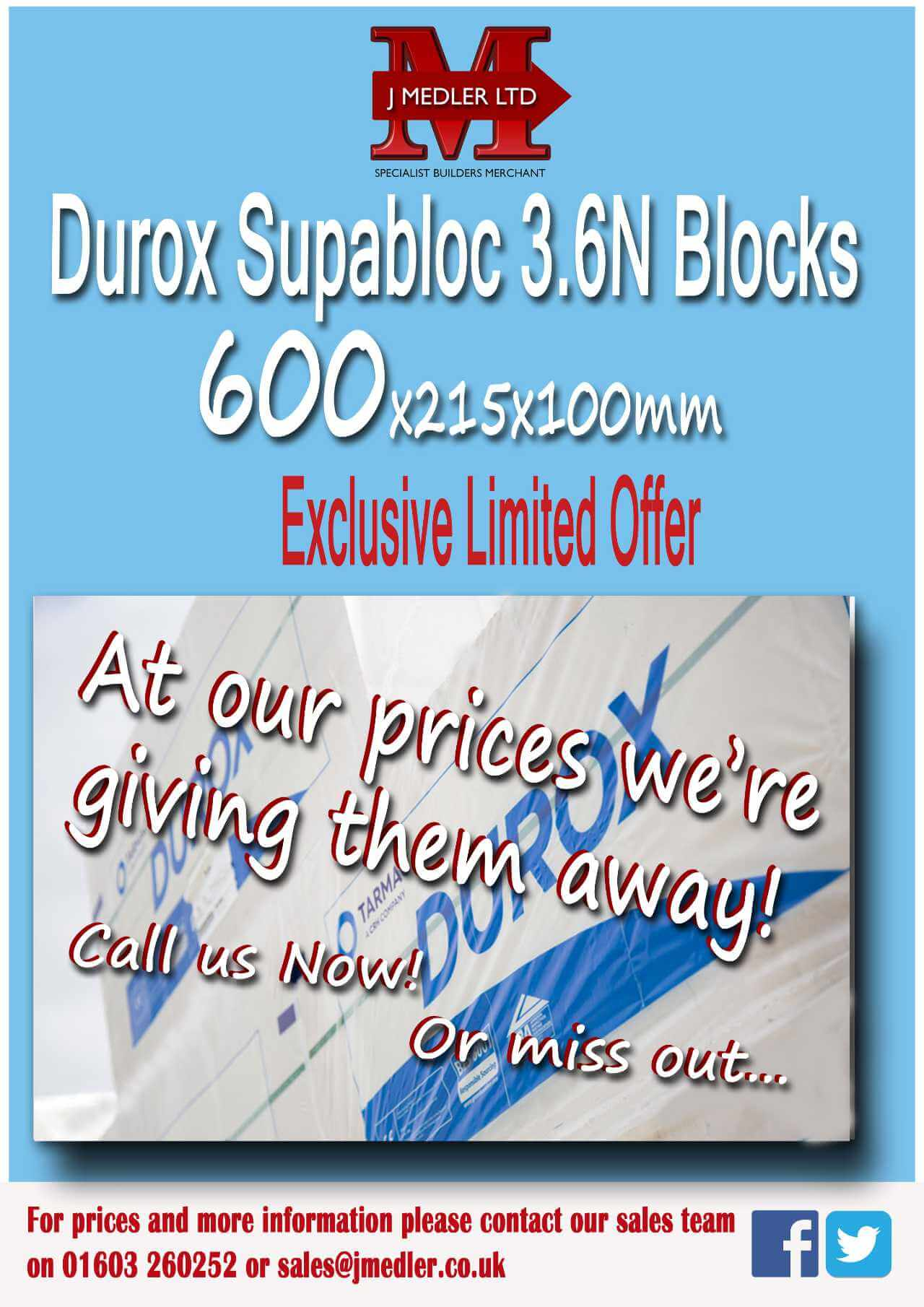 Durox block offer